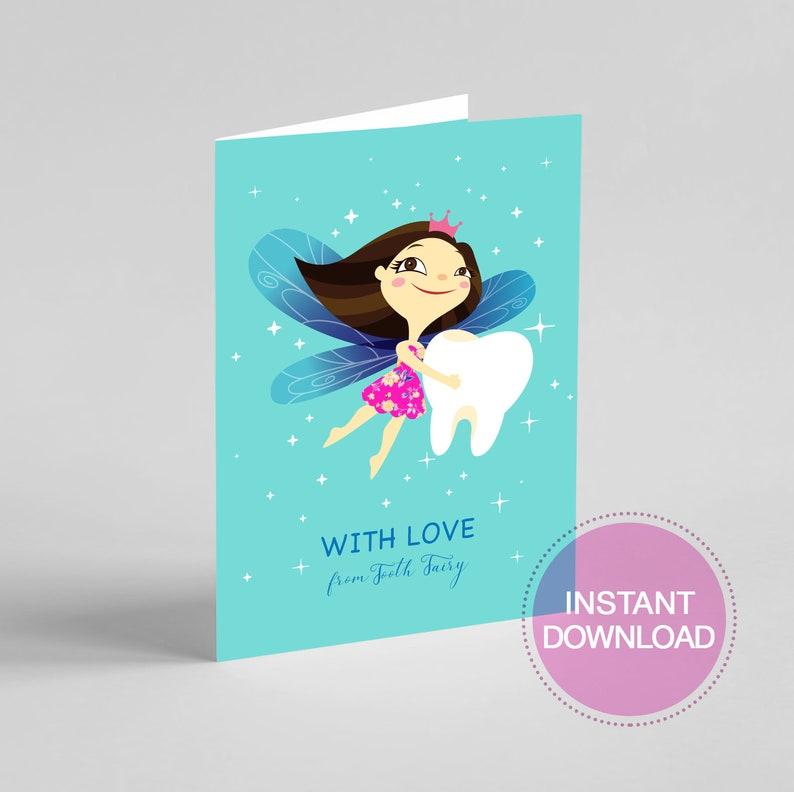 photograph regarding Tooth Fairy Card Printable titled Printable Enamel Fairy Card