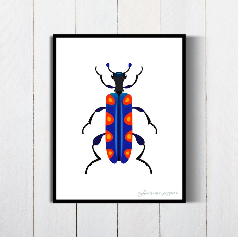 graphic relating to Printable Bugs referred to as Printable Insects Poster, Insect Print, Insect Poster, Beetle Bug Artwork, Beetle Insect Artwork, Insects Print, Insects Poster, Nursery Poster, Kid Shower