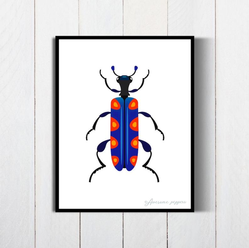 photograph regarding Printable Bugs named Printable Insects Poster, Insect Print, Insect Poster, Beetle Bug Artwork, Beetle Insect Artwork, Insects Print, Insects Poster, Nursery Poster, Child Shower