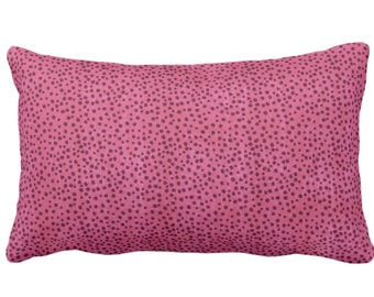 """Confetti Dots Throw Pillow or Cover, Magenta Print 14 x 20"""" Lumbar Pillows or Covers, Bright/Dark Pink Scatter Dot/Modern/Abstract/Allover"""