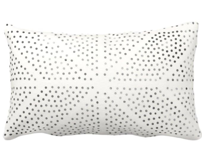 "Batik Star Print Throw Pillow or Cover, Off-White/Gray/Black 14x20"" Lumbar Pillows or Covers, Diamond/Geo/Geometric/Tribal/Hmong/Hill Tribe"