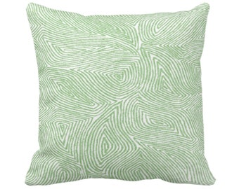 """OUTDOOR Sulcata Geo Throw Pillow or Cover, Cactus Green/White 14, 16, 18, 20, 26"""" Sq Pillows/Covers Abstract/Modern/Geometric/Tribal Print"""