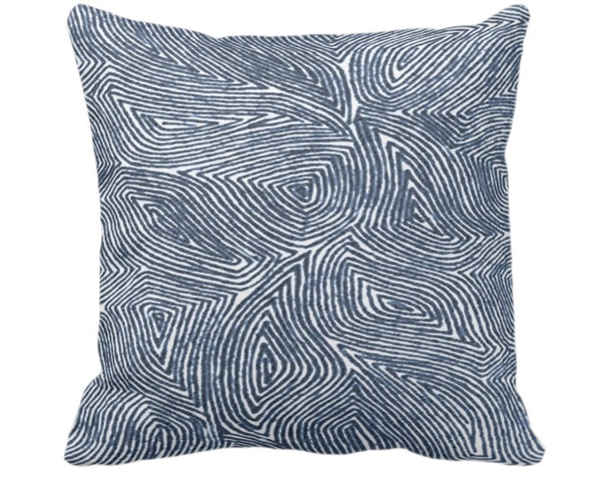 """READY 2 SHIP Sulcata Geo Throw Pillow Cover, Navy & White 20"""" Sq Pillow Covers, Dark Blue Abstract Geometric/Tribal/Lines/Wavy/Boho"""
