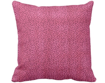 "Confetti Dots Throw Pillow or Cover, Magenta Print 14, 16, 18, 20, 26"" Sq Pillows/Covers Dark/Bright Pink Abstract/Modern/Allover/Dot/Spots"