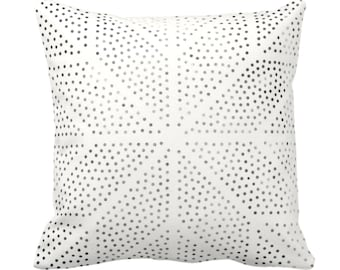 "Batik Star Print Throw Pillow or Cover, Off-White/Gray/Black 14, 16, 18, 20, 26"" Sq Pillows/Covers Geometric/Geo/Tribal/Hmong/Design/Pattern"