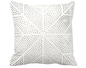 "OUTDOOR Batik Star Print Throw Pillow or Cover, Off-White/Gray/Black 14, 16, 18, 20, 26"" Sq Pillows/Covers Geometric/Boho/Tribal/Hmong/Hill"