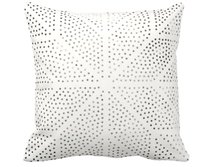 "OUTDOOR Batik Star Print Throw Pillow/Cover, Off-White/Gray/Black 14, 16, 18, 20, 26"" Sq Pillows/Covers Geometric/Geo/Boho/Tribal/Hmong/Hill"