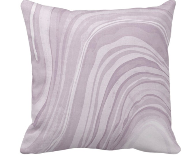 """OUTDOOR Marbled Throw Pillow or Cover, Iced Lavender 14, 16, 18, 20, 26"""" Sq Pillows/Covers, Dusty Purple Abstract/Modern/Marble Art Print"""