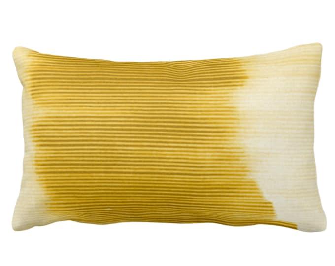 "Horseradish Ombre Stripe Throw Pillow or Cover 14 x 20"" Lumbar Pillows/Covers, Dark Yellow Geometric/Print/Design/Striped/Stripes/Geo/Lines"