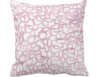 """Abstract Curves Throw Pillow or Cover, Lavender 14, 16, 18, 20, 26"""" Sq Pillows/Covers Light Purple Painted Modern/Geometric/Geo/Lines Print"""