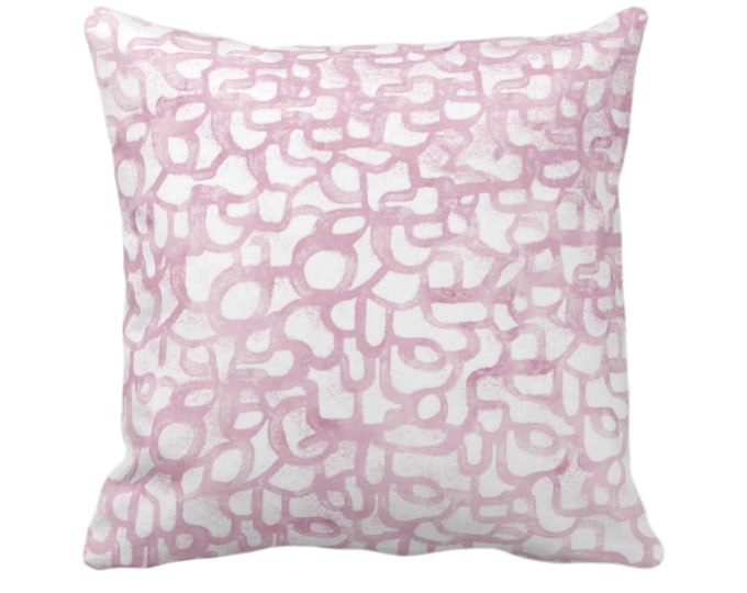 """OUTDOOR Abstract Curves Throw Pillow or Cover, Lavender 14, 16, 18, 20, 26"""" Sq Pillows/Covers, Light Purple Art/Modern/Geometric/Geo Print"""