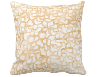 """OUTDOOR Abstract Curves Throw Pillow/Cover, Canteloupe 14, 16, 18, 20, 26"""" Sq Pillows/Covers, Dusty Orange Modern/Geometric/Lines/Art Print"""