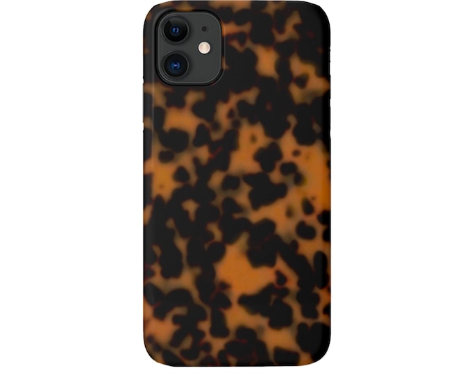 Tortoise Shell iPhone 11, XS, XR, X, 7/8 or 6/6S P/Pro/Plus/Max Snap Case or TOUGH Protective Cover, Sable Printed Tortoiseshell, Galaxy lg