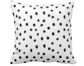 """OUTDOOR Dots-Scape Throw Pillow or Cover, Modern Black & White Print 14, 16, 18, 20, 26"""" Sq Pillows/Covers, Dots/Spots/Spotted/Dotted"""