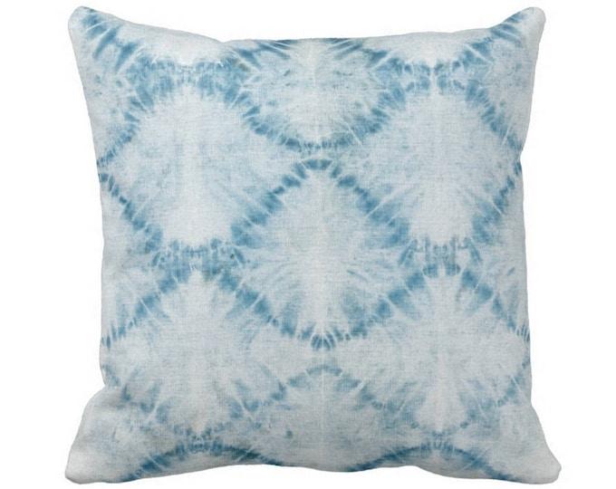 "Indigo Mud Cloth Print Throw Pillow or Cover, Light Blue 14, 16, 18, 20, 26"" Sq Pillows or Covers, Mudcloth/Boho/Tribal/Geometric"