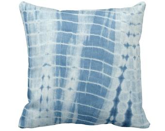 "OUTDOOR Indigo Mud Cloth Printed Throw Pillow or Cover 14, 16, 18, 20, 26"" Sq Pillows/Covers, Stripes Mudcloth/Lines/Boho/Tribal/Geo/Design"