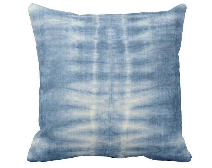 "Indigo Mud Cloth Lines Print Throw Pillow or Cover, 14, 16, 18, 20 or 26"" Sq Pillows or Covers, Blue Mudcloth/Stripes/Geometric/Boho"
