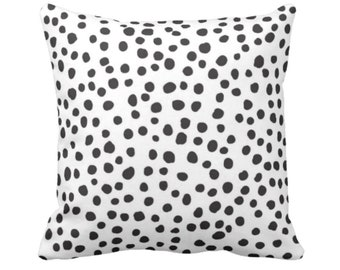 """Scatter Dots Throw Pillow or Cover, Black/White 14, 16, 18, 20 or 26"""" Sq Pillows or Covers, Polka/Spots/Animal/Modern/Leopard Print"""