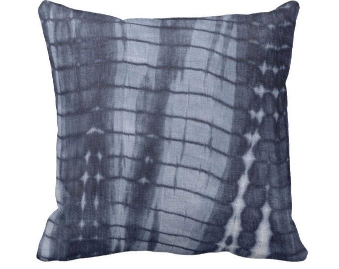 "OUTDOOR Dark Indigo Mud Cloth Print Throw Pillow or Cover 14, 16, 18, 20 or 26"" Sq Pillows/Covers, Navy/Blue Mudcloth/Boho/Tribal/Stripes"