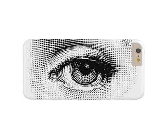 Fornasetti Eye iPhone XS, Max, XR, X, 7/8, 7/8P, 6/6S, 6 Plus Snap Case or TOUGH Protective Cover, Black/White Modern Print, Lina Cavalieri