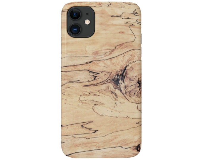 Driftwood iPhone 11, XS, XR, X, 7/8, 6/6S Pro/Max/Plus/P Snap Case or TOUGH Protective Cover, Printed Light/Pale Wood/Wooden Look, Galaxy lg