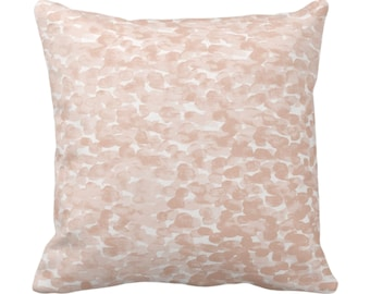 "Pebbled Watercolor Throw Pillow or Cover, Shell 14, 16, 18, 20, 26"" Sq Pillows/Covers, Pale Peach Modern/Abstract/Minimal/Minimalist Print"