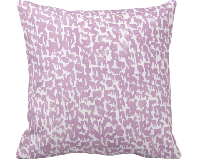 """SALE Lavender Speckled Throw Pillow Cover 18"""" Sq Pillow Covers, Light Purple Geometric/Abstract/Marbled/Confetti/Spots/Dots"""