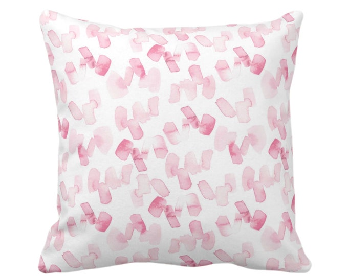 """Watercolor Confetti Abstract Throw Pillow or Cover, Pink/White 16, 18, 20 or 26"""" Sq Pillows/Covers, Modern/Minimal Hand-Dyed Print, Bright"""