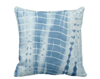 "Indigo Mud Cloth Stripes Print Throw Pillow or Cover 16, 18, 20, 26"" Sq Pillows or Covers, Mudcloth/Lines/Boho/Tribal/Geo/Design"