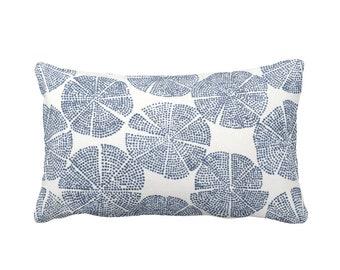 "READY 2 SHIP Block Print Throw Pillow Cover, Geo/Circles Navy Blue/White 14 x 19"" Lumbar Pillow Covers Blockprint/Batik/Medallion/Pattern"