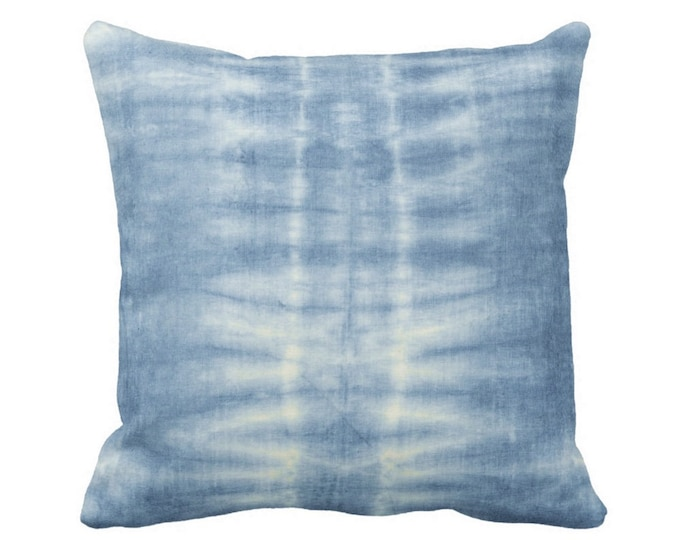 "READY 2 SHIP Indigo Mud Cloth Lines Print Throw Pillow Cover, 16"" Sq Pillow Covers, Blue Mudcloth/Stripes/Geometric/Boho/Bright/Batik"
