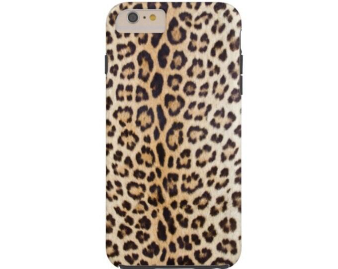 READY 2 SHIP Leopard Print iPhone 7/8 Case-Mate TOUGH Protective Case/Cover, Faux Animal/Cat Design/Pattern Beige/Black Jaguar Spots/Spotted