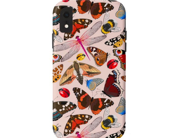 READY 2 SHIP Insects iPhone X TOUGH Protective Cover, Butterfly/Dragonfly/Bee/Ladybug Plus/Max Nude/Blush Pink, Moth/Bugs/Red/Ornage/Yellow