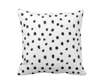"Dots-Scape Throw Pillow or Cover, Modern Black and White Print 16, 18, 20 or 26"" Square Pillows or Covers, Dots/Spots/Spotted/Dotted"