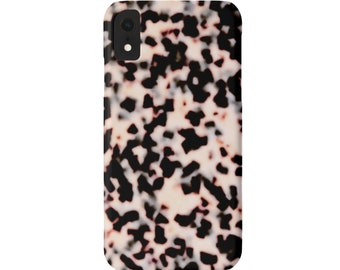 Tortoise Shell iPhone 11, XS, XR, X, 7/8, 6/6S Pro/Max/P/Plus Snap Case or TOUGH Protective Cover, Blush/Nude Pink Print Plus Tortoiseshell