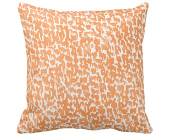 "OUTDOOR Canteloupe Speckled Print Throw Pillow or Cover 14, 16, 18, 20, 26"" Sq Pillows/Covers Orange Geometric/Abstract/Marbled/Spot Pattern"