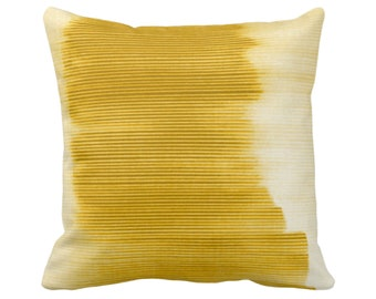 """OUTDOOR Horseradish Ombre Stripe Throw Pillow/Cover 14, 16, 18, 20, 26"""" Sq Pillows/Covers, Yellow Geometric/Print/Striped/Stripes/Geo/Lines"""
