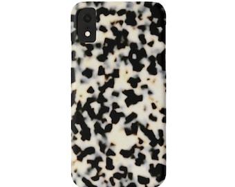 Tortoise Shell Case Mate iPhone XS, XR, X, 7/8, 6/6S, Max/P/Plus Slim or TOUGH Protective Cover, Bone/Off-White Print Plus Tortoiseshell