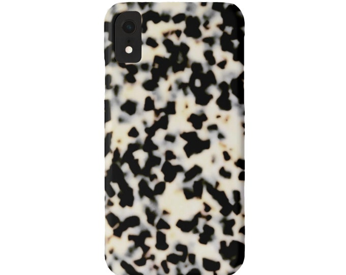 Tortoise Shell Case Mate iPhone 11, XS, XR, X, 7/8, 6/6S, Max/Pro/P/Plus Slim or TOUGH Protective Cover, Bone/Off-White Print Tortoiseshell