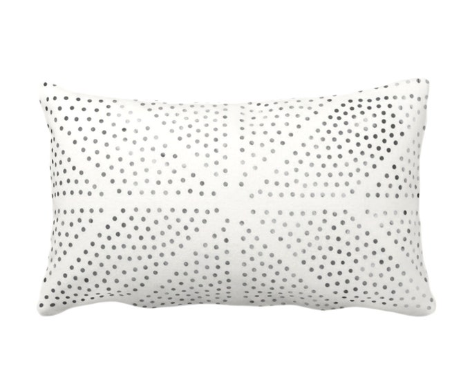 "OUTDOOR Batik Star Print Throw Pillow or Cover, Off-White/Gray/Black 14x20"" Lumbar Pillows/Covers, Geometric/Geo/Tribal/Hmong/Hill Tribe"