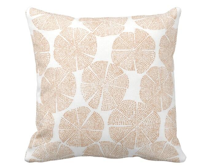"Blockprint Floral Throw Pillow or Cover Adobe/White 16, 18, 20, 26"" Sq Pillows or Covers Orange Block/Batik/Boho/Print/Pattern"
