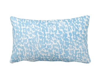 "Sky Speckled Print Throw Pillow or Cover 14 x 20"" Lumbar Pillows or Covers, Light Blue/White Abstract/Marbled/Spots/Dots/Painted/Dashes/"