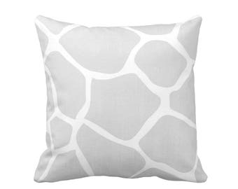 "Giraffe Throw Pillow or Cover, Gray, White 16, 18, 20, 26"" Sq Pillows/Covers, Grey Modern/Gender/Neutral/Nursery/Safari/Animals/Animal/Print"