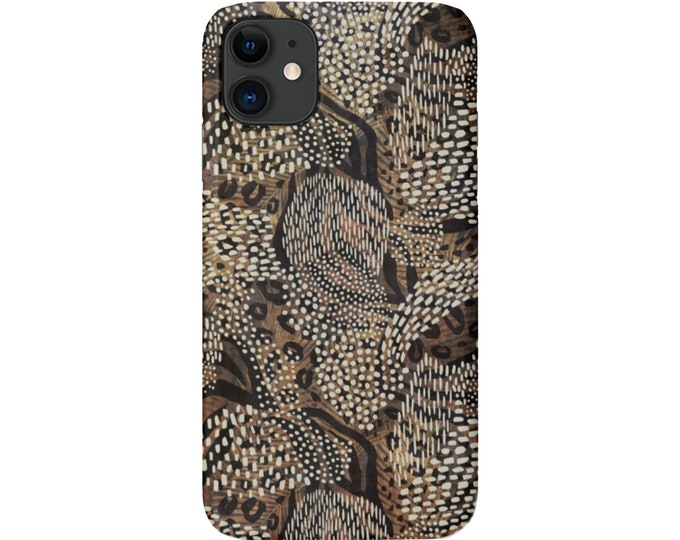 Leopard Camo iPhone 11, XS, XR, X, 7/8, 6/6S Pro/Max/P/Plus Snap Case or TOUGH Protective Cover, Abstract/Animal Print/Pattern Galaxy lg