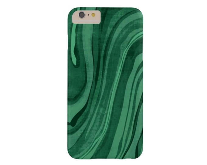 Malachite iPhone XS, Max, XR, X,  7/8, 7/8 P, 6/6S, 6 Plus Snap On Case or Tough Protective Cover, Emerald Modern Green Marble/Marbled Print