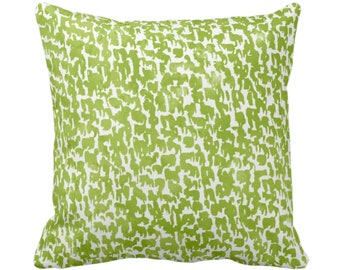 "OUTDOOR Wasabi Speckled Throw Pillow/Cover 14, 16, 18, 20, 26"" Sq Pillows/Covers Green/White Geometric/Abstract/Confetti/Spots/Dots/Specks"