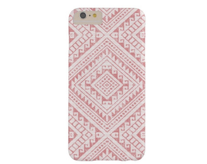 Tribal Geo Rosewood iPhone XS, Max, XR, X, 7/8, 7/8, 6/6S, 6 Plus Snap Case or Tough Protective Cover Blush/Nude Pink Geometric Boho Print