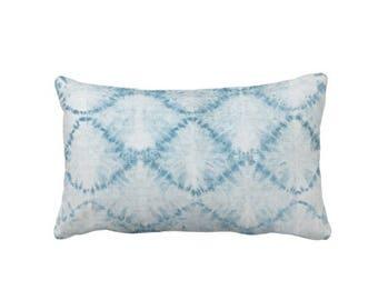 "Indigo Mud Cloth Print Throw Pillow or Cover, Faded Diamond 14 x 20"" Lumbar Pillows or Covers, Mudcloth/Boho/Tribal/Geometric"