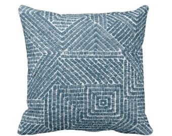 "Tribal Geo Throw Pillow or Cover, Teal 14, 16, 18, 20, 26"" Sq Pillows/Covers, Dark/Deep Blue/Green Geometric/Tribal/Batik/Geo/Boho/Diamond"