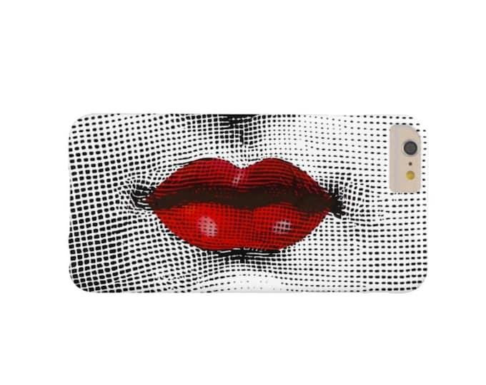 READY 2 SHIP Fornasetti Red Lips iPhone 7/8 Plus/P Case-Mate Tough Case/Cover, Black, White, Modern Lina Cavalieri